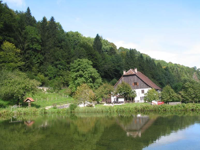 Ferme de la Combe Tabeillon et son étang